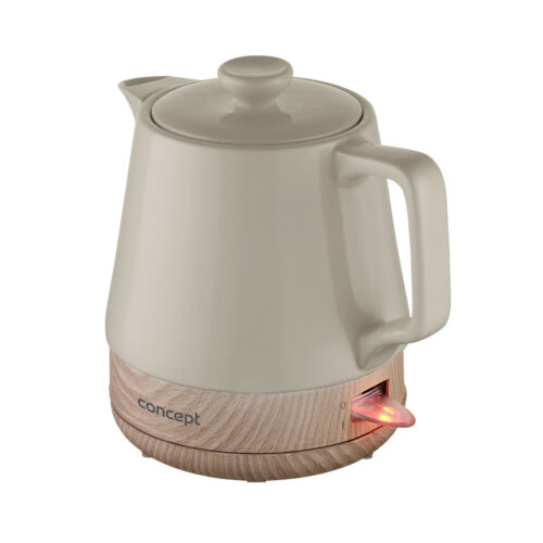 Wasserkocher aus Keramik Elektrische Sicherheitssystem Lichtanzeige Concept 1L