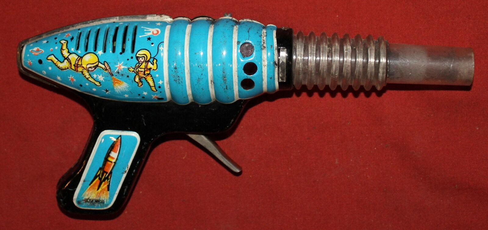 Vintage Soviet Russian kid toy space hand gun tin blaster blaster blaster 64c011
