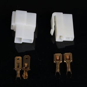 10-Sets-2-WAY-PIN-6-3MM-ELECTRICAL-MULTI-PLUG-CONNECTOR-TERMINAL-BLOCK