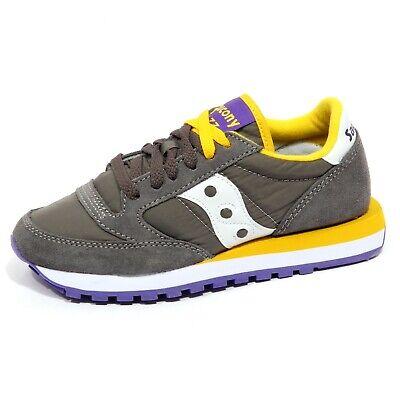 Saucony F9812 Sneaker Donna Dark Grey Jazz Scarpe Shoe Woman