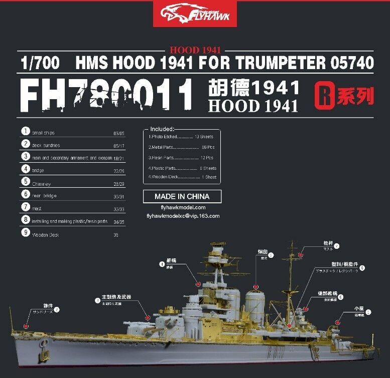 Flyhawk 1 700 780011 HMS Hood 1941 for Trumpeter