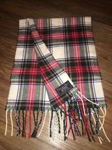 ddf450aa987f Image is loading Vintage-CHRISTIAN-DIOR-Cashmaire-100-Acrylic-FRINGED-TARTAN -