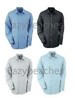 Ashworth Golfman Mens S M L XL XXL 3XL Dobby Blend Grid Woven Oxford Dress Shirt