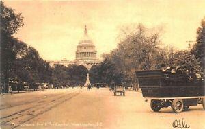Washington-DC-Pennsylvania-Ave-amp-The-Capitol-Building-1906-Postcard