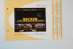 Becker Uhren Und Schmuck Katalog Clock 1960 70er Jahre Vintage Prospekt B5122 Im Sommer KüHl Und Im Winter Warm