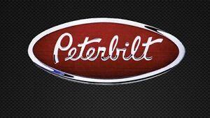 Peterbilt Decal Sticker Trucking Hood Emblem Simi Various Bumper CHROME or WHITE