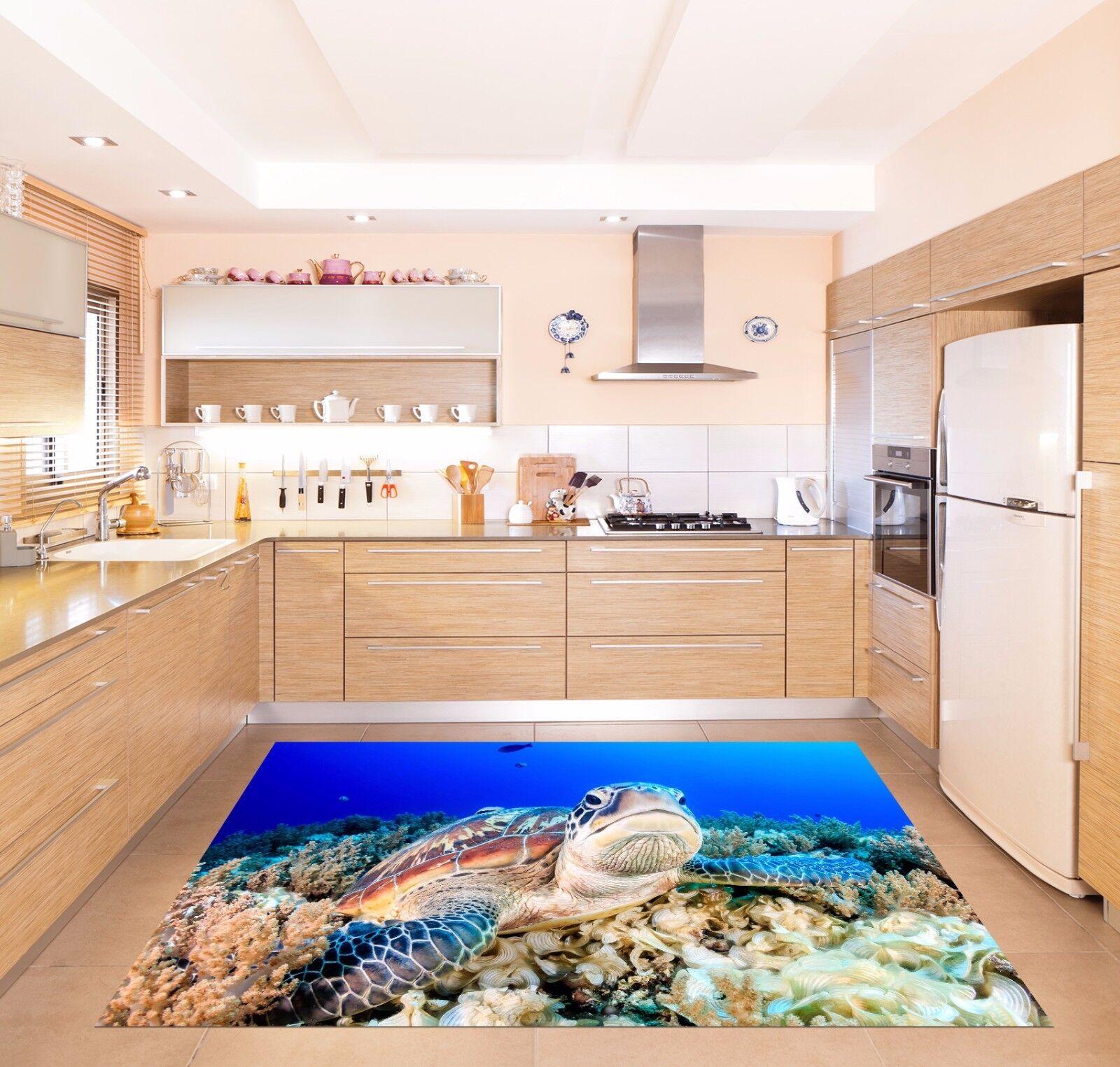 3D Turtles 823 Kitchen Mat Floor Murals Wall Print Wall AJ WALLPAPER UK Kyra