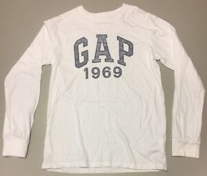 090a2f8a6 Boys Gap LOGO T-shirt - White Full sleeve -Size 10-11 Years | eBay