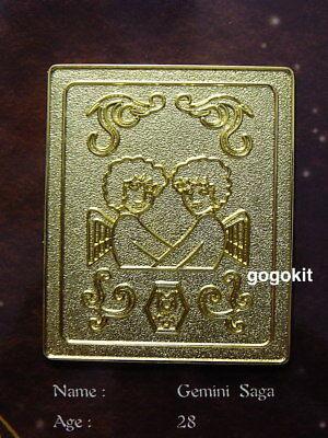 Bandai Saint Seiya Myth Cloth Gold Metal Plate Mat Stand New Gemini Saga