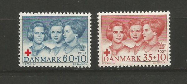 2 Timbres Neufs Danemark Y&tn°433 & 434 Croix-rouge /t6214 Pas De Frais à Tout Prix