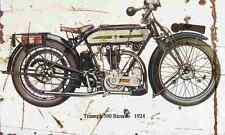 TRIUMPH 500 Ricardo 1924 Envejecido Vintage sign A3 Grande Retro