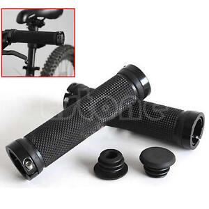 New-Black-Cycling-Lock-On-Bicycle-Handle-Grips-Bike-Handlebar-Road-MTB-BMX-1Pair