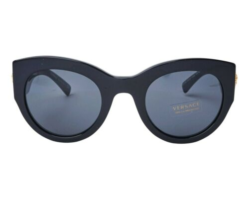 NWT Versace Sunglasses VE 4353 GB1//87 BLACK W GREY 51 mm NIB