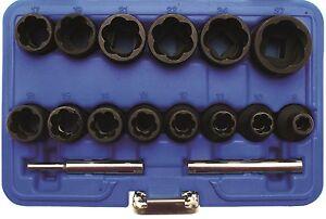 BGS-defekte-Muttern-Schrauben-loesen-Ausdreher-8-27-mm-16-tlg-Schraubenausdreher