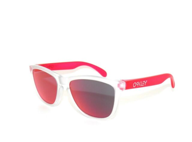 073a52af25 Oo9013-b3 55 Oakley Sunglasses Frogskins Matte Clear Torch Iridium ...