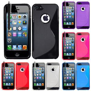 Accessoire-Housse-Etui-Coque-TPU-Silicone-Gel-Motif-S-Line-Seri-Apple-iPhone