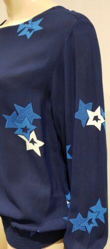 bleu étoiles longues See à manches à By Chloe imprimé Chemisier rxvwfvq8Xz