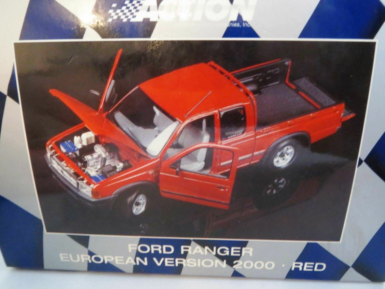 WOW EXTREMELY RARE Ford Ranger V6 4X4 Double Cab 2000 Red 1 18 Minichamps Action