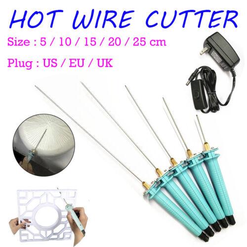 3 Plug Electric Foam Cutter Pen Polystyrene Hot Wire Styrofoam Hand Held Tool