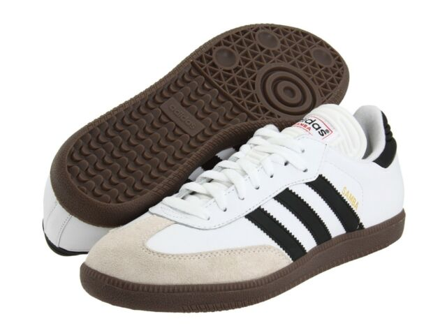 Adidas Samba Og Mens White Leather Low Top Lace Up Sneakers Shoes Ships Free!