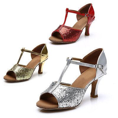Brand New Women's Ballroom Latin Tango Dance Shoes heeled Salsa 3 Colors 216