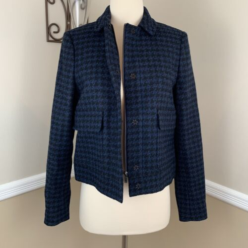 LK Bennett London Selene Dogtooth Wool Blazer Jack
