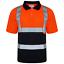 Hi-Vis-Viz-Polo-T-Shirt-Alta-Visibilita-Sicurezza-Nastro-Riflettente-Sicurezza-lavoro-Top miniatura 3