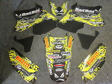 Suzuki RM125 RM250 2001-2010 Team Bad Boy USA graphics decals set GR1500