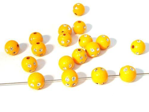 Strass 100 Stück #N8 7mm orange Acryl // Kunststoffperlen