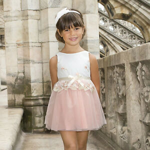 7479ce1f4c9 Image is loading Mayoral-Little-Girl-2-9-Embroidered-Tulle-Dress