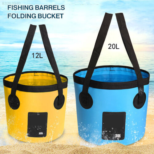 10C7 Portable GBD Folding Bucket Fishing Bucket Collapsible Sink Water Pot Bag