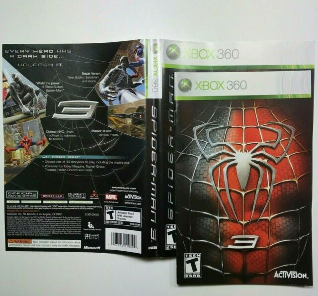 (MANUAL AND ARTWORK ONLY) (NO GAME) XBOX 360 - Spider-Man 3