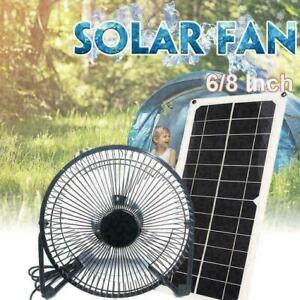 Sonline 10W Solar Panel Powered Fan Ventilator f/ür Hund Huhn Haus Gew?Chshaus RV Dach