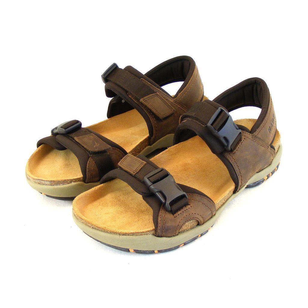 Naot caballero zapatos sandalias Explorer real-cuero marrón combi plantilla 15945