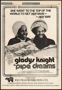 PIPE-DREAMS-Orig-1977-Trade-print-AD-poster-GLADYS-KNIGHT-Barry-Hankerson