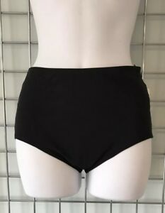 fbae1214a7fc9 Image is loading Karla-Colletto-Black-Basic-High-Waisted-Bikini-Pants