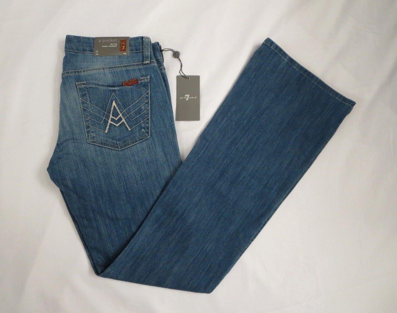 Nwt 7 For All Mankind Schlaghose Leg   eine Tasche   Jeans Größe 28