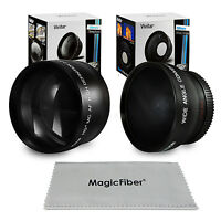 52mm Wide Angle & 2.2x Telephoto Lens For Nikon D7100 D5200 D3300 D3200 D3100 on sale