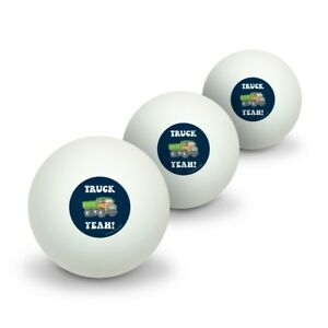 Truck-Yeah-Funny-Humor-Novelty-Table-Tennis-Ping-Pong-Ball-3-Pack