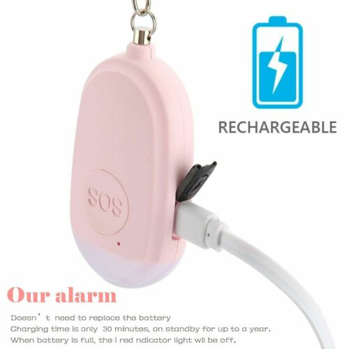 Womens Hot 130dB Safe Sound Personal Alarm Self Defense Keychain Emergency Siren