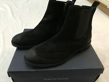 bd03b9abb04d item 1 MENS TOMMY HILFIGER BLACK SUEDE ALFORD 3B CHELSEA BOOTS UK SIZE 10 -MENS  TOMMY HILFIGER BLACK SUEDE ALFORD 3B CHELSEA BOOTS UK SIZE 10
