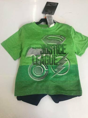Green//Navy-Sizes 4T NEW Justice League Boys 3 Piece Set Color