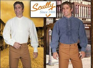 c8bdf5b7180 SCULLY Men s Pleated Puffed Sleeves Banded Collar Old West Classic ...