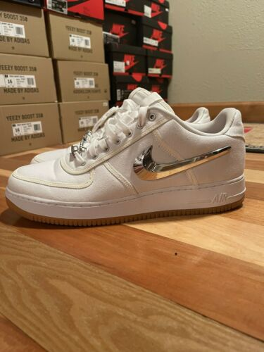Nike AIR FORCE 1 LOW TRAVIS SCOTT WHITE sz 15 RARE