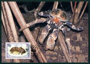 British Territory Mk 1993 Faune Palmendieb Crabe Coconut Crab Maximum Carte En56-afficher Le Titre D'origine