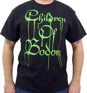 New-CHILDREN-OF-BODOM-Green-Drip-Logo-Mens-Concert-T-Shirt