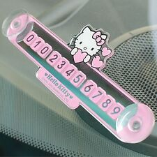 Sanrio Hello Kitty Car Parking Number Plate Temporary Phone Number Car Accessory