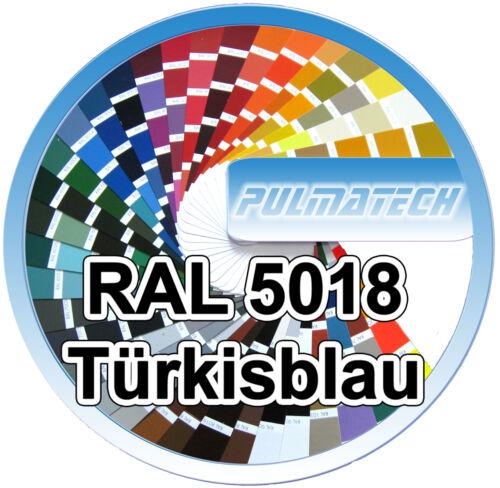 500g. Pulverlack Beschichtungspulver Ral 5018 Türkisblau