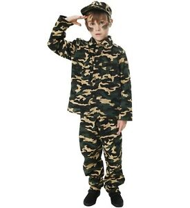 kinder soldaten kost m armee kost m kappe jungen armee outfit neu ebay. Black Bedroom Furniture Sets. Home Design Ideas