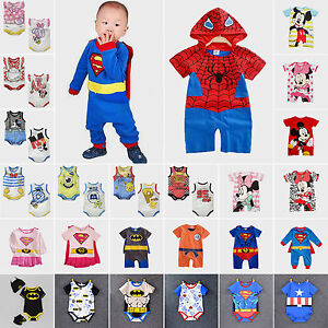 Newborn-Baby-Boy-Girl-Cartoon-Romper-Bodysuit-Jumpsuit-Outfit-Costume-Clothes